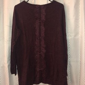 ELLE sweater with back detail NEW WITH TAGS!